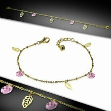 Stainless Steel Golden/Chain Ch Bracelet With Charms Shaped Sheet