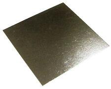 """25 x 9 """"pollice quadrato argento cake BOARD 3mm doppio spessore"""