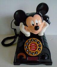 Vintage Disney Mickey Mouse Talking Alarm Clock Radio Desk Phone Telephone Phone