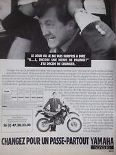 PUBLICITÉ DE PRESSE 1989 LA YAMAHA 125 DTRE UN PASSE-PARTOUT - ADVERTISING
