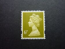 GB 6p yellow-olive litho Machin stamp S.G. Y1766 MNH ex. Northern Ireland DX16