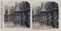 Rouen Palais Da Justice La Cour Francia Foto Stereo Vintage Analogica c1930