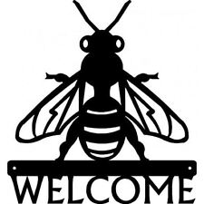 Honey Bee Welcome Sign - Metal - 12 inches - made in USA