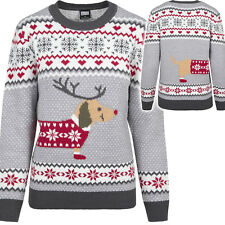 urban Classics Ladies Sausage Dog Christmas Sweater Weihnachtspullover