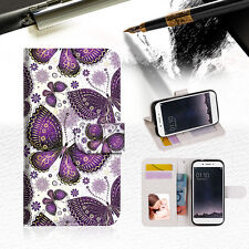 Purple Butterfly Phone Wallet TPU Case Cover For OPPO F1S-- A017