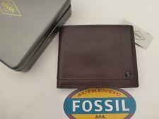 Fossil protegido RFID Tri-Fold Wallet Walton Café Cuero Billeteras En Estaño RP £ 45