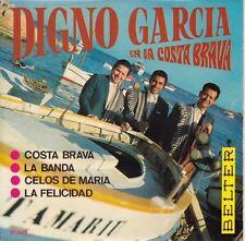 """Digno Garcia En La Costa Brava 7"""" : Digno Garcia Y Sus Carios"""