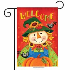 "Harvest Scarecrow Fall Garden Flag Primitive Autumn 12.5"" x 18"" Briarwood Lane"