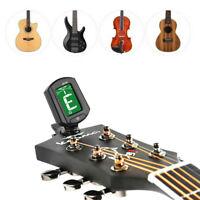 TINKSKY Gitarren Stimmgerät Tuner LCD Display Digital Clip-On Gitarrenstimmgerät