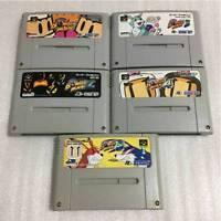 Nintendo Super Famicom Super Bomberman 1 2 3 4 5 set Japan SFC SNES F/S