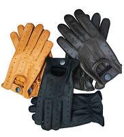 Men/'s top qualité en cuir véritable conduite fashion gants élégant éléphant gris 507