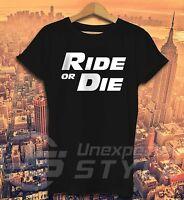 FAST AND FURIOUS T-shirt FAHREN ODER STERBEN Paul Walker Familie motorrad