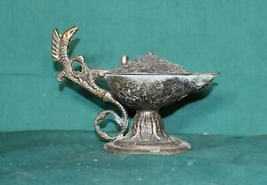 VINTAGE BRASS ALADDIN GENIE LAMP INCENSE BURNER