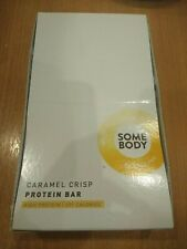 11 SOME BODY Protein Bars 56g CARAMEL CRISP Low Sugar - New in Box - BBE 30/09