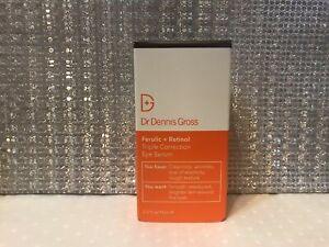 Dr Dennis Gross Ferulic + Retinol Triple Correction Eye Serum 15ml New & Boxed