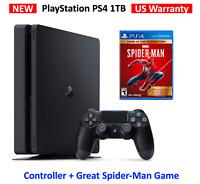 2020 PlayStation 4 Slim 1TB Console - Marvel's Spider-Man Bundle (US Warranty)