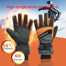 Motorcycle Electric Heated Gloves Waterproof Rechargeable Winter Sport Mittens