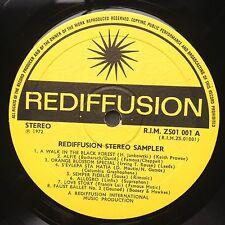 Rare promo! REDIFFUSION Stereo Sampler jazz compilation LP 1972 Pete Moore Alfie