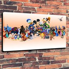 "Art QUALITY CANVAS PRINT Disney Star Lineup Home Wall Decor A3772,20""x32"""