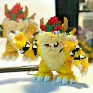 Game Super Mario Bowser Turtle Animal Monster 3D DIY Mni Building Blocks Set Kit
