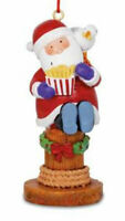 Santa and Seagull Eating Boardwalk Fries Christmas Holiday Ornament Resin