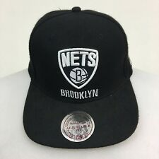 Brooklyn Nets Mitchell & Ness Snapback Wool Cap Hat Black