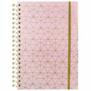 A4 Pink Foil Wiro Notebook: Assorted  h5