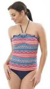 Hot Honi Tankini Set Aztec Bandeau Halterneck Swimwear 10-16 FREE P&P