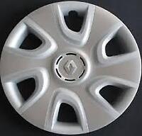 """Compatibilità Renault Clio Coppa Ruota Copricerchio 15"""" Logo Grigio 5753/5"""