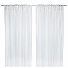 IKEA Modern Style TERESIA Sheer Curtains,White,1 Pair,250 x145cm,100% Polyester