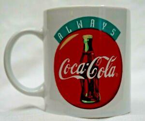 Vtg Coca Cola Coffee Mug Cup Coke Logo Gibson Soda Advertising