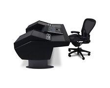 Argosy G22 Desk SSL Nucleus | G22-NUC-RR9-B-B-G | Black Trim Gunmetal Gray Legs