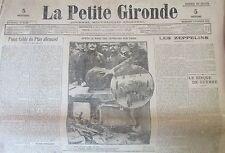 WW1 GUERRE 1914 - 1918 JOURNAL LA PETITE GIRONDE FEVRIER 1916 COMPLET VERDUN