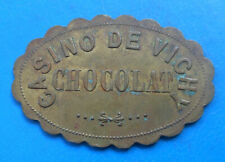 "Auvergne 03 Allier Vichy , casino , jeton ""CHOCOLAT""  laiton 45 x 30mm"