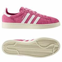 adidas ORIGINALS MEN'S CAMPUS TRAINERS PINK SNEAKERS SHOES SMART CASUAL SUEDE