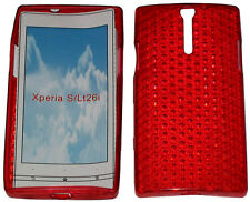 Pattern Soft Gel Case Protector Cover For Sony Xperia S LT26i LT26 Red New UK