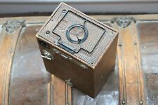 "HOUGHTON ENSIGN BOX CAMERA 21/4"" B RR, BROWN"