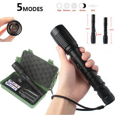 New Tactical Flashlight 6000LM CREE T6 LED Powerful Torch Bike Light Mount 22cm