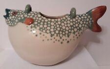 1984 Animal & Co No 2989 Ceramic Fish Teapot J.B. 0/88