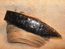 Midnight Lace Obsidian Paleo Blade Flint Knapping Black Powder Mountain Man