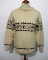Les-Knit Ltd Island Norweger Strick Pullover Grösse M Herren Wolle K188