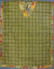 """Gringo Recycled Faux Silk Sari Kaftan 3/4 Length 46"""" Drop (KT3)"""