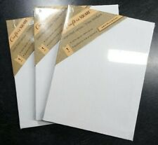 """3pk 6""""x8"""" White Cotton Stretched Art Canvases Canvas 1/2"""" Painting Acrylic Oil"""