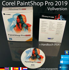 Corel PaintShop Pro 2019 Vollversion Box + DVD, Handbuch (PDF) OVP NEU