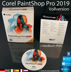 Corel PaintShop Pro 2019 Vollversion Box + DVD, Handbuch (PDF) OVP NEU