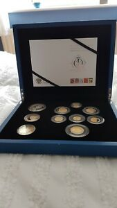The 2012 UK Diamond Jubilee Silver Proof Coin Set COA Ltd Edition of 2,012