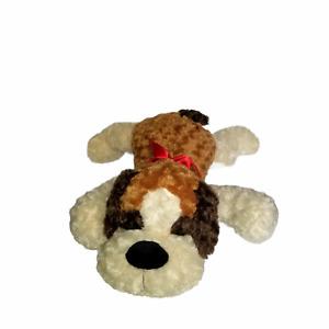 Large Floppy Dog Kellytoy Plush Lying Down Heart on Bottom Soft Pillow