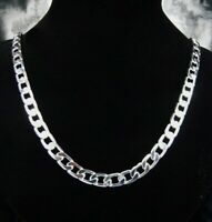 ASAMO Herren Panzerkette Halskette 8mm 925 Sterling Silber plattiert Kette 1034