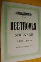 Beethoven, Serenade, D-Dur, Opus 25, Flöte,Violine,Viola, hier:Heft für Violine