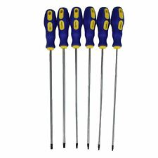 Extra Long Torx Star Screwdriver Set T10 – T30 Screwdrivers Length 250mm 6pc